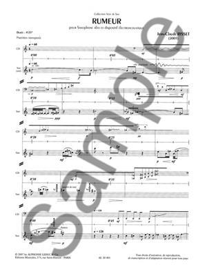 Jean-Claude Risset: Rumeur: Saxophone