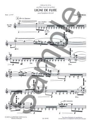 Claude Georgel: Ligne De Fuite: Saxophone