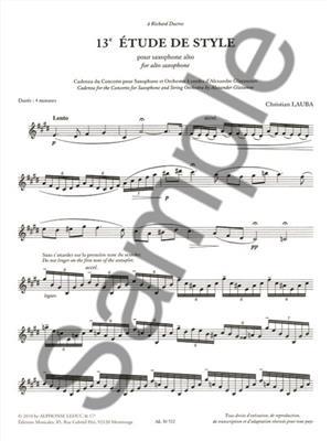 Cadence du concerto pour sax et orchestre a cordes: Saxophone