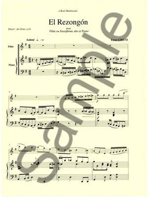 Enzo Gieco: Gieco Enzo El Rezongon Flute Or Saxophone & Piano: Flute