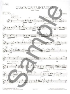 Éric Ledeuil: Quator Printanier pour Flutes: Flute Ensemble