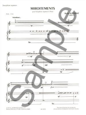 Kevin Juillerat: Miroitements: Saxophone