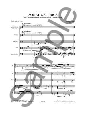 Nicolas Bacri: Sonatina Lirica Op.108 No1b: Chamber Ensemble