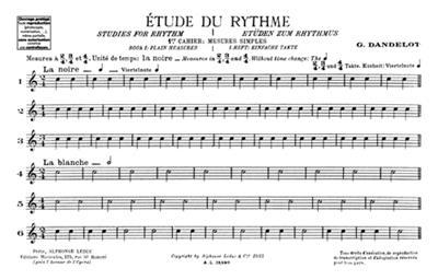 Georges Dandelot: Etude Du Rythme Vol.1: All Instruments