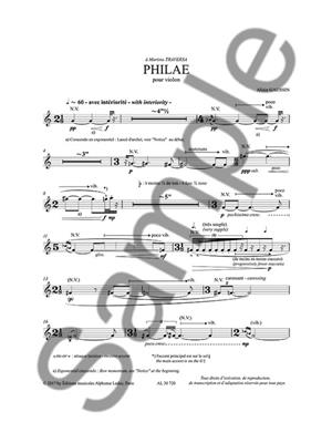 Allain Gaussin: Philae For Solo Violin: Violin