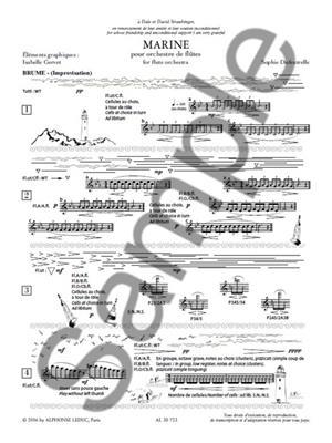 Sophie Dufeutrelle: Marine: Flute Ensemble