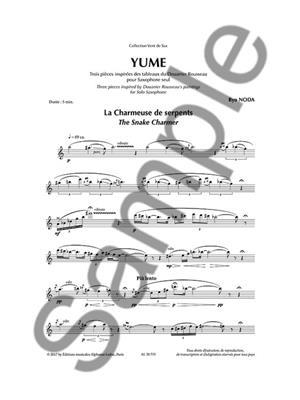 Ryo Noda: Yume: Saxophone