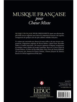 Musique Française Pour Choeur Mixte: Mixed Choir