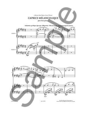 Reynaldo Hahn: Caprice Mélancolique Et Autres Pièces: Piano Duet