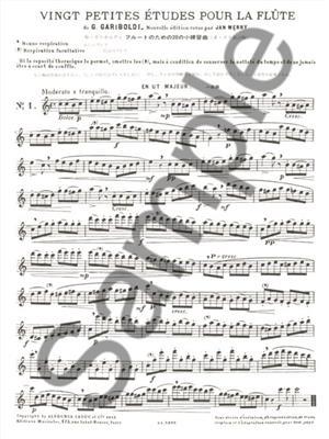 Giuseppe Gariboldi: Petite Etudes(20) Op.132: Flute