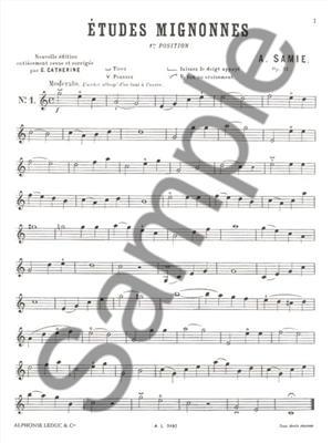 Samie: Etudes Mignonnes Op.31: Violin