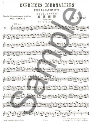 Hyacinthe-Eléonore Klosé: Exercises Journaliers: Clarinet