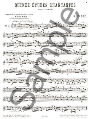 Hyacinthe-Eléonore Klosé: 15 Etudes Chantantes: Saxophone