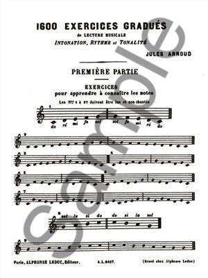 Jules Arnoud: 1600 Exercices gradués Vol.1: All Instruments