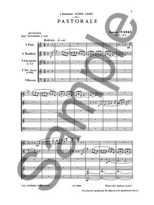 Gabriel Pierné: Pastorale Op.14 (Wind Quintet): Wind Ensemble