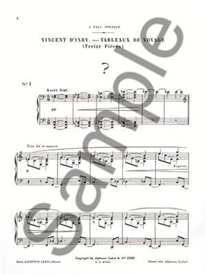 Tableaux De Voyages Op 33: Piano or Keyboard