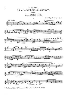 B. van denSigtenhorst: 3 Landelijke Miniaturen Opus 24: Oboe