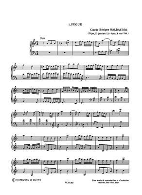 Claude Benigne Balbastre: Pieces de Clavecin d'Orgue et de Forte Piano: Organ