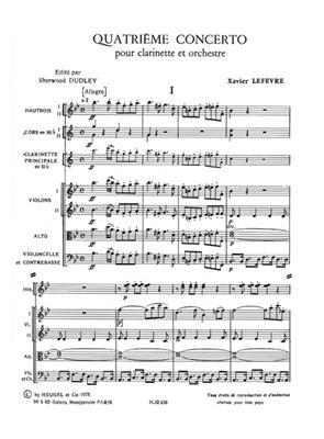 Lefevre: Concertos N04 Et N06 Pour: Clarinet