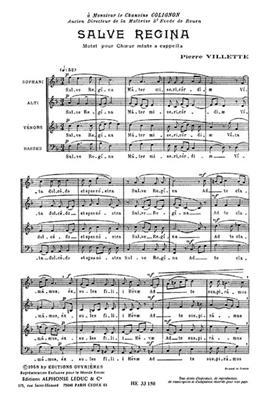 Villette: Salve Regina: Mixed Choir