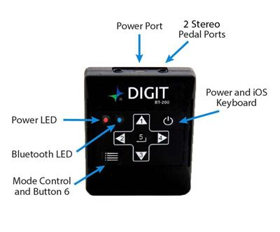 AirTurn: DIGIT 200 Bluetooth Handheld Remote Control