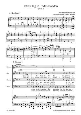 Johann Sebastian Bach: Cantata BWV 4 Christ Lag In Todes Banden: Mixed Choir