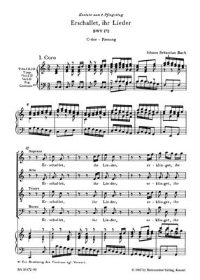 Johann Sebastian Bach: Cantata BWV 172 Erschallet, Ihr Lieder: Arr. (Dietrich Kilian): SATB