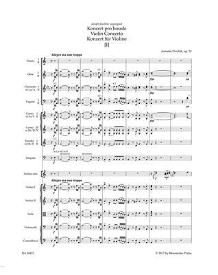 Antonín Dvořák: Concerto for Violin and Orchestra: Orchestra
