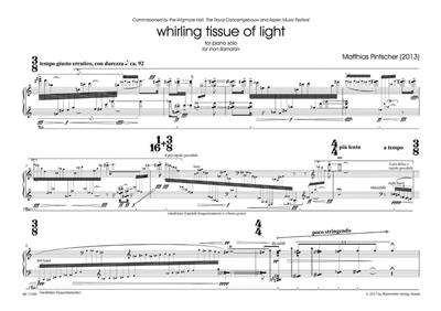 Matthias Pintscher: Whirling Tissue of Light: Piano or Keyboard