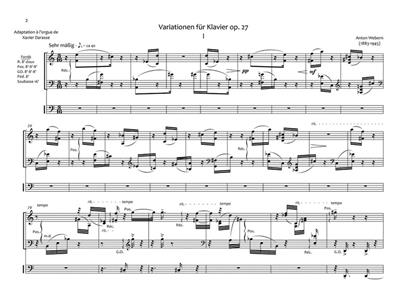 Anton von Webern: Variationen For Piano Op. 27: Organ