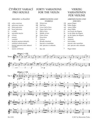Otakar Sevcik: Vierzig Variationen Für Violine Op. 3: Violin