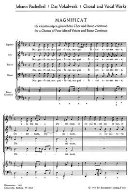 Johann Pachelbel: Magnificat Anima Mea: Vocal