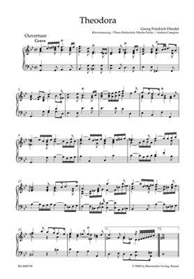 Georg Friedrich Händel: Theodora: Piano- or Organ Reduction