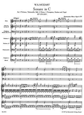 Wolfgang Amadeus Mozart: Samtliche Kirchensonaten, Heft 3-4: Organ