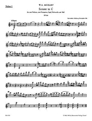 Wolfgang Amadeus Mozart: Church Sonatas Vol. 5 In C, K.263: Organ