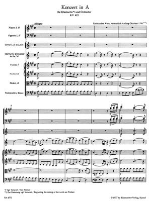 Wolfgang Amadeus Mozart: Clarinet Concerto In A K.622: Clarinet