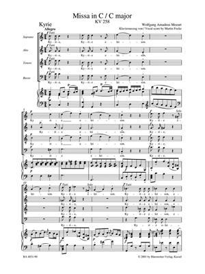 Wolfgang Amadeus Mozart: Messa Do K 258 (Senn-Urtext): Mixed Choir