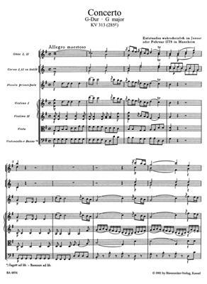 Wolfgang Amadeus Mozart: Concerto in G major for Flute K.313: Flute