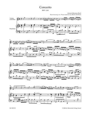 Johann Sebastian Bach: Concert 01 A BWV1041: Violin