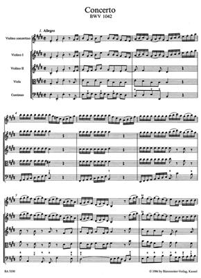 Johann Sebastian Bach: Violin Concerto In E BWV 1042: Violin