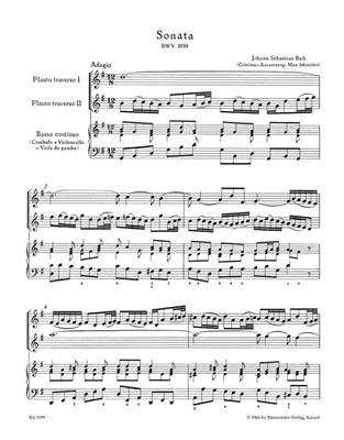 Johann Sebastian Bach: Trio Sonata In G For Two Flutes And Basso Continuo: Flute Duet