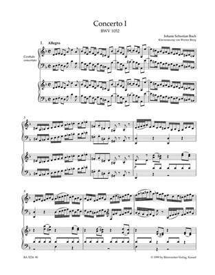 Johann Sebastian Bach: Concerto for Harpsichord and Strings no. 1 D min.: Orchestra