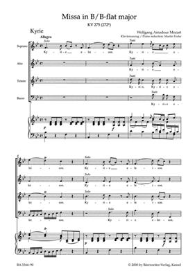 Wolfgang Amadeus Mozart: Missa Brevis In B Flat K. 275: Voice