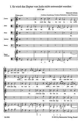 Heinrich Schütz: Sacred Choral Music SWV 369-380: Mixed Choir