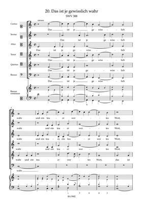 Sacred Choral Music SWV 381-397