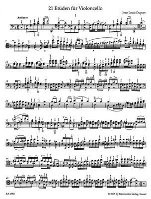 Jean-Louis Duport: Etudes(21): Cello