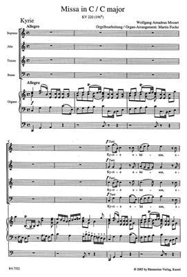 Wolfgang Amadeus Mozart: Missa brevis KV 220 (PA): Mixed Choir