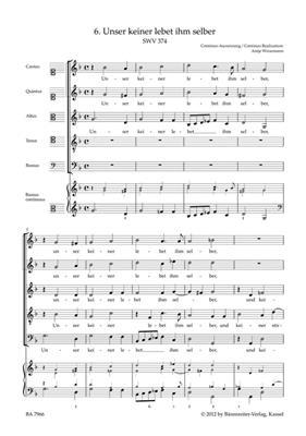 Heinrich Schütz: Unser Keiner Lebet Ihm Selber SWV 374: Mixed Choir