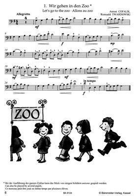 Antoni Cofalik: At the Zoo for Violoncello and Piano: Cello