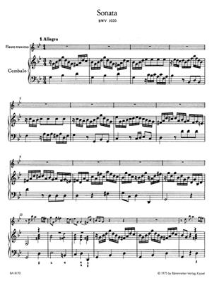 Johann Sebastian Bach: Sonate G BWV1020: Flute